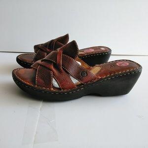 Born Slip On Leather Sandals